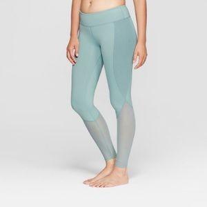 NWT Joy Lab Teal Aqua Mid Rise Mesh Legging